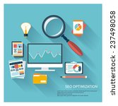 illustration of seo concept in... | Shutterstock .eps vector #237498058