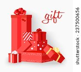 gift red | Shutterstock .eps vector #237500656