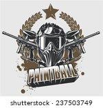 paintball mask and guns | Shutterstock .eps vector #237503749