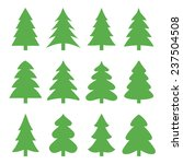 Christmas Trees. Vector...