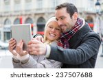 view of a young couple on... | Shutterstock . vector #237507688