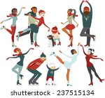 ice skating people set of... | Shutterstock .eps vector #237515134