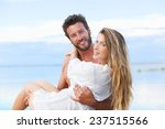 portrait of man holding woman... | Shutterstock . vector #237515566