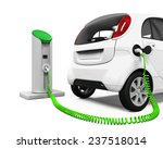 electric car in charging station   Shutterstock . vector #237518014