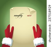 santa checking his naughty and... | Shutterstock .eps vector #237518929