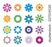 set of color geometric flowers | Shutterstock .eps vector #237519220