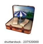 travel suitcase. beach vacation ... | Shutterstock . vector #237520000