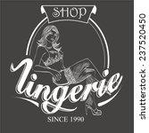 vector retro emblem lingerie... | Shutterstock .eps vector #237520450