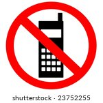 No cell phones - stock photo