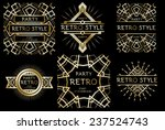 vector set retro pattern for... | Shutterstock .eps vector #237524743