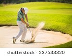 Golfers Hit The Ball In The...