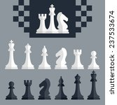 vector chess pieces icons set ... | Shutterstock .eps vector #237533674