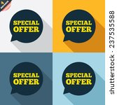 special offer sign icon. sale... | Shutterstock .eps vector #237535588