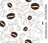 coffee beans seamless texture. | Shutterstock . vector #237536584