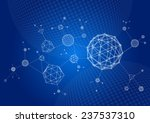 abstract 3d wire frame... | Shutterstock .eps vector #237537310