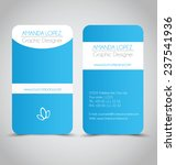 business card design set... | Shutterstock .eps vector #237541936