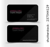 business card design set... | Shutterstock .eps vector #237544129