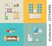 flat design of house interior...   Shutterstock .eps vector #237546988