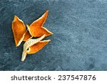 Closeup On Dried Orange Peels...