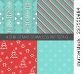 set of simple christmas... | Shutterstock .eps vector #237550684