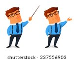funny cartoon businessman... | Shutterstock .eps vector #237556903