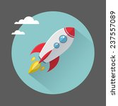 flat illustration with... | Shutterstock .eps vector #237557089
