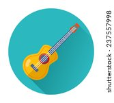 guitar musical instrument icon... | Shutterstock .eps vector #237557998