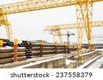 bridge cranes over railroad in... | Shutterstock . vector #237558379
