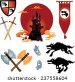 collection of cartoon fairy... | Shutterstock .eps vector #237558604