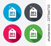 30  sale price tag sign icon.... | Shutterstock .eps vector #237566710