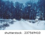 Winter Natural Landscape With...