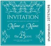 invitation card design. vector... | Shutterstock .eps vector #237574198