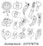 i love vegetables. funny... | Shutterstock .eps vector #237578776