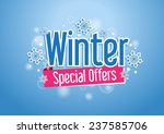 winter special offers word with ...   Shutterstock .eps vector #237585706