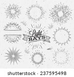 set light ray in vintage style... | Shutterstock .eps vector #237595498
