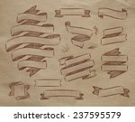 set ribbons in vintage style... | Shutterstock .eps vector #237595579