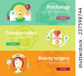 set of flat design concepts for ... | Shutterstock .eps vector #237598744