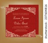 red vintage wedding invitation... | Shutterstock .eps vector #237604816