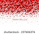 valentine heart background | Shutterstock .eps vector #237606376