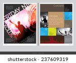magazine layout design. vector... | Shutterstock .eps vector #237609319