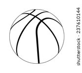 basketball ball. vector. | Shutterstock .eps vector #237610144