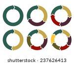 cycle arrow diagrams set ... | Shutterstock .eps vector #237626413