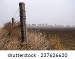 The Wooden Fence Post As The...
