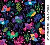 cute vector pattern of birds... | Shutterstock .eps vector #237629086