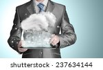 cloud computing touchscreen... | Shutterstock . vector #237634144