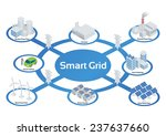 smart grid image illustration ... | Shutterstock .eps vector #237637660