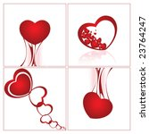 valentin s day cards | Shutterstock .eps vector #23764247
