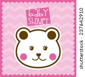 baby shower design vector... | Shutterstock .eps vector #237642910
