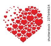 red vector hearts | Shutterstock .eps vector #237644614