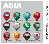 asia countries   part one | Shutterstock .eps vector #237649708